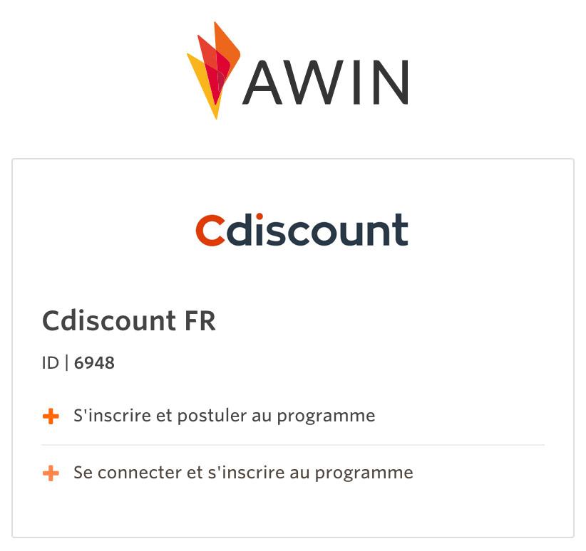 affiliation cdiscount